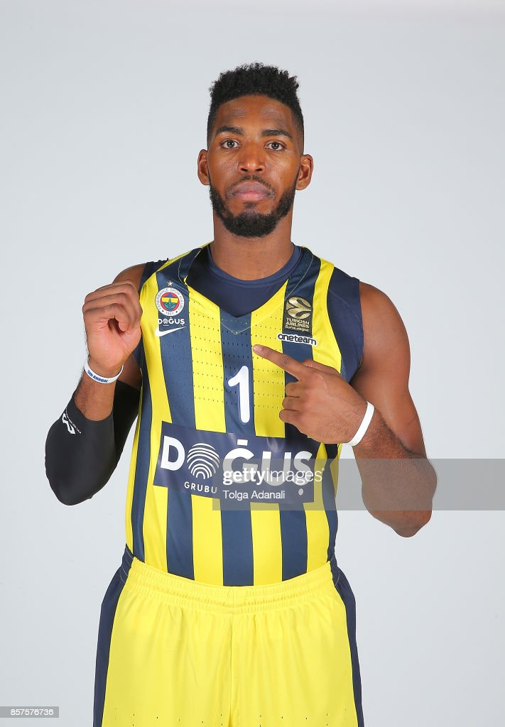 Jason Thompson, #1 poses during Fenerbahce Dogus Istanbul 2017/2018 Turkish Airlines EuroLeague Media Day at Ulker Sports Arena on October 2, 2017 in Istanbul, Turkey.