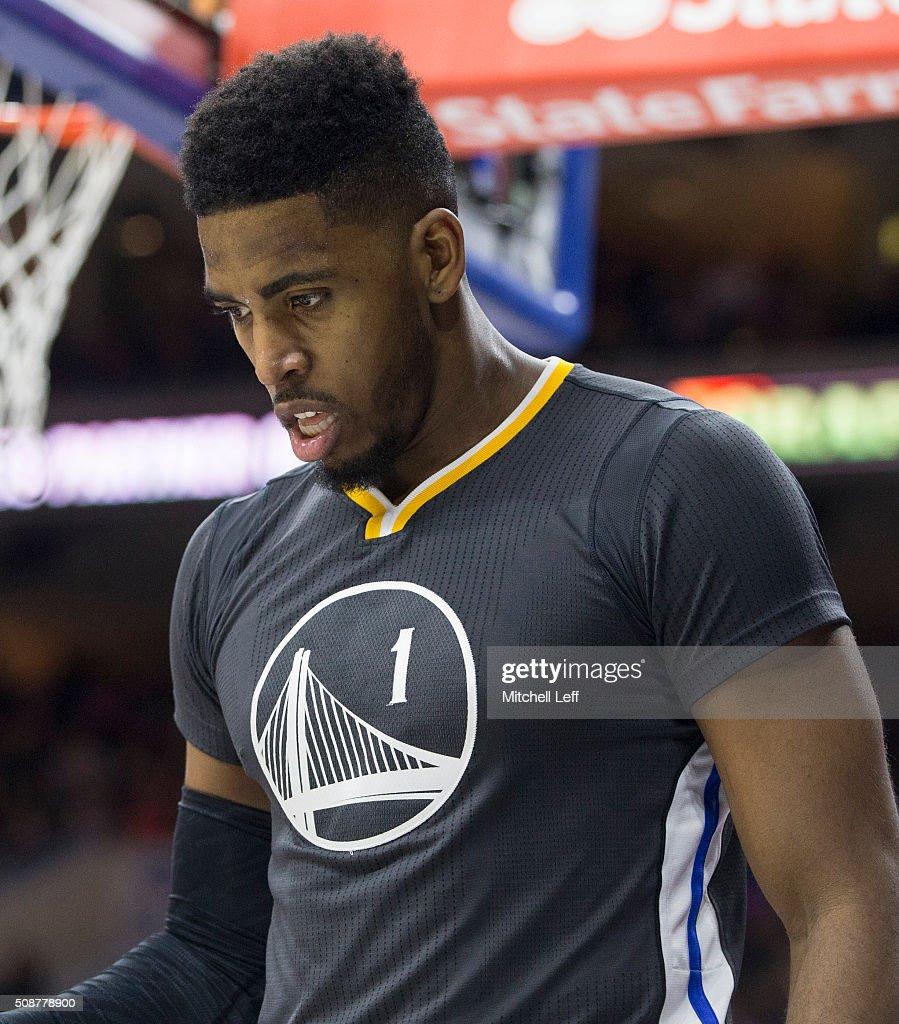 Jason Thompson #1 of the Golden State Warriors looks on during the game against the Philadelphia 76ers on January 30, 2016 at the Wells Fargo Center in Philadelphia, Pennsylvania.