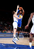 Jason Thompson of the Golden State Warriors shoots against the New York Knicks on January 31 2016 at Madison Square Garden in New York City NOTE TO...