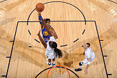 Jason Thompson of the Golden State Warriors shoots the ball against the Denver Nuggets on January 13 2016 at the Pepsi Center in Denver Colorado NOTE...