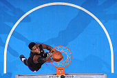 Jason Thompson of the Sacramento Kings dunks against the Los Angeles Clippers during the game on February 21 2015 at STAPLES Center in Los Angeles...