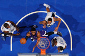 Jason Thompson of the Sacramento Kings goes up for a shot against the Orlando Magic on March 6 2015 at Amway Center in Orlando Florida NOTE TO USER...