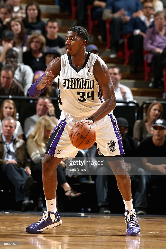 Jason Thompson #34 of the Sacramento Kings in action against the Los Angeles Lakers at Power Balance Pavilion on November 21, 2012 in Sacramento, California.