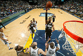 Jason Thompson of the Sacramento Kings shoots against the Memphis Grizzlies on March 30 2015 at FedExForum in Memphis Tennessee NOTE TO USER User...
