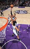 Jason Thompson of the Sacramento Kings shoots against the San Antonio Spurs on February 27 2015 at Sleep Train Arena in Sacramento California NOTE TO...