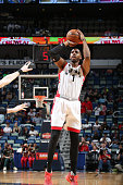 Jason Thompson of the Toronto Raptors shoots the ball against the New Orleans Pelicans on March 26 2016 at Smoothie King Center in New Orleans...