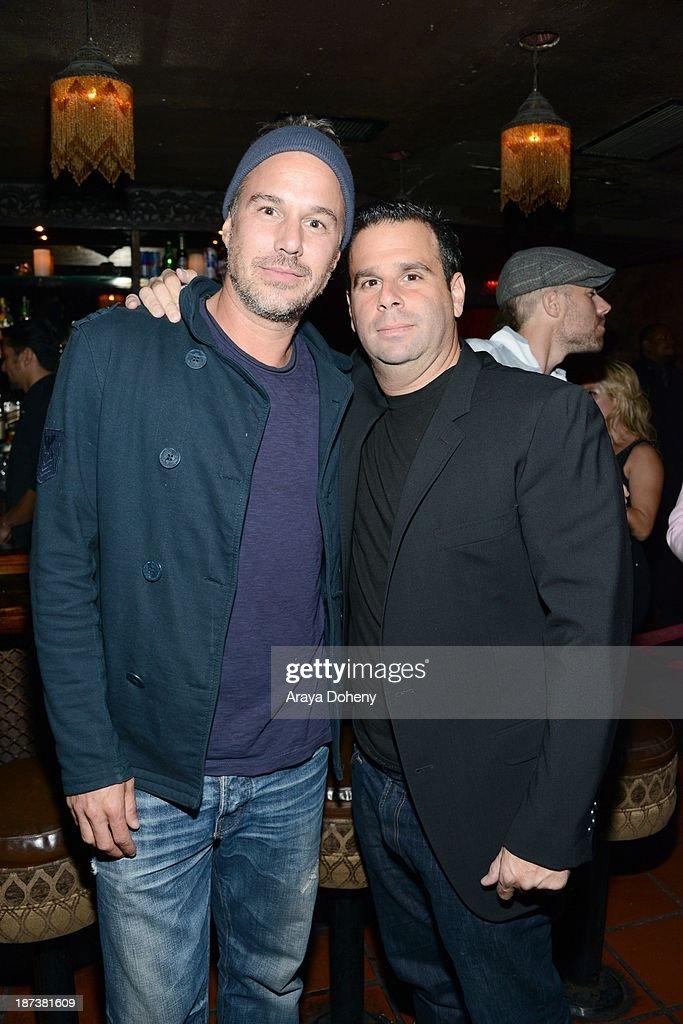 Jason Trawick and Randall Emmett attend the Emmett/Furla/Oasis Films hosts celebration for the upcoming production of 'Tupac' at Zanzibar on November 7, 2013 in Santa Monica, California.