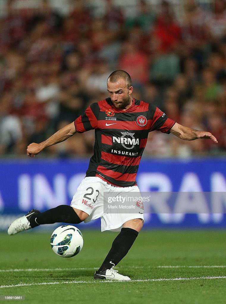 Jason Trifiro of the Wanderers in action during the round eight A-League match between the Western Sydney Wanderers and the Melbourne Victory at Parramatta Stadium on November 24, 2012 in Sydney, Australia.
