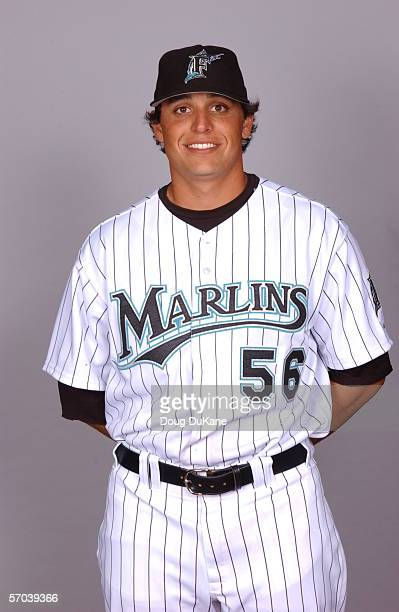 Jason Vargas of the Florida Marlins during photo day at Roger Dean Stadium on February 25 2006 in Jupiter Florida