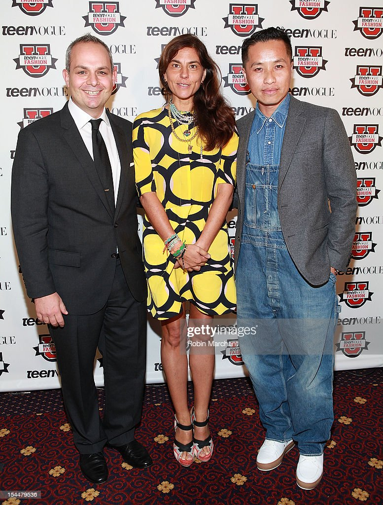Jason Wagenheim, Gloria Baume and Designer Phillip Lim attend Teen Vogue Fashion University at the Hudson Theatre on October 20, 2012 in New York City.