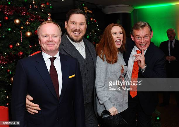 Jason Watkins Marc Wooton Catherine Tate and Martin Clunes attends the UK Premiere of 'Nativity 3 Dude Where's My Donkey' at Vue West End on November...