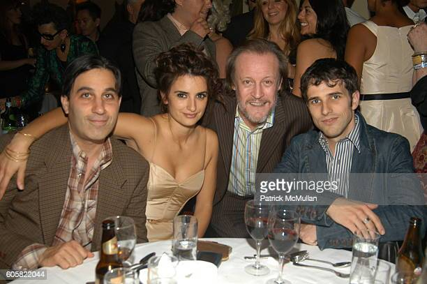 Jason Weinberg Penelope Cruz Patrick McMullan and Neil Rasmus attend PAPER MAGAZINE Hosts Dinner for Pedro Almodovar at Indochine on October 5 2006...