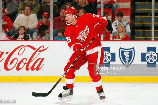 Jason Williams of the Detroit Red Wings skates during the game against the Washington Capitals on October 10 2009 at Joe Louis Arena in Detroit...