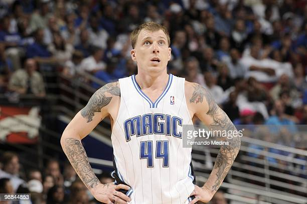Jason Williams of the Orlando Magic looks on the court against Charlotte Bobcats in Game Two of the Eastern Conference Quarterfinals during the 2010...