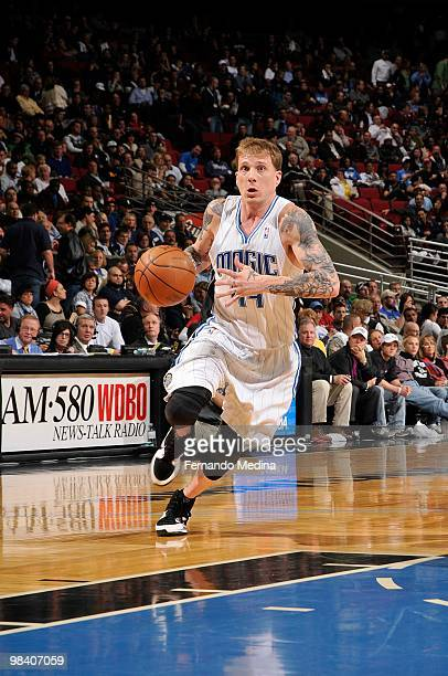 Jason Williams of the Orlando Magic moves the ball against the Golden State Warriors during the game on March 3 2010 at Amway Arena in Orlando...