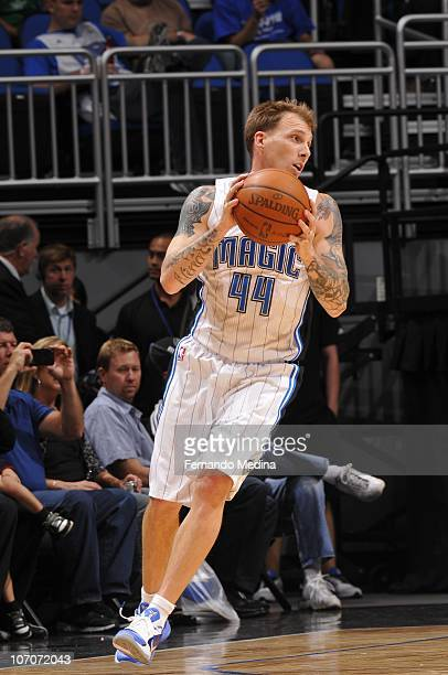 Jason Williams of the Orlando Magic protects the ball during the game against the Minnesota Timberwolves on November 3 2010 at the Amway Center in...
