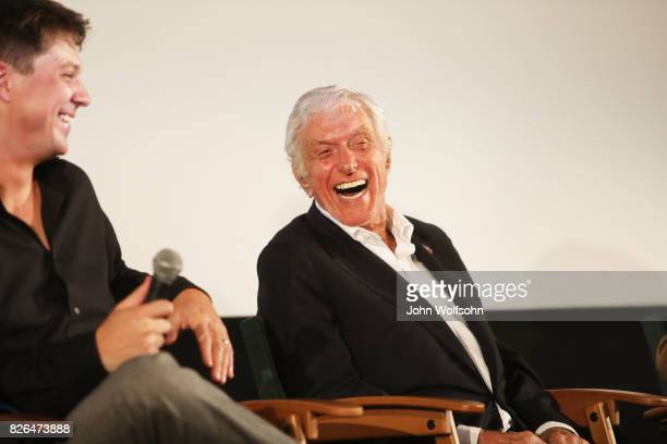 Jason Wise and Dick Van Dyke attend the special screening and QA 'Rose Marie Wait for Your Laugh' at Aero Theatre on August 3 2017 in Santa Monica...