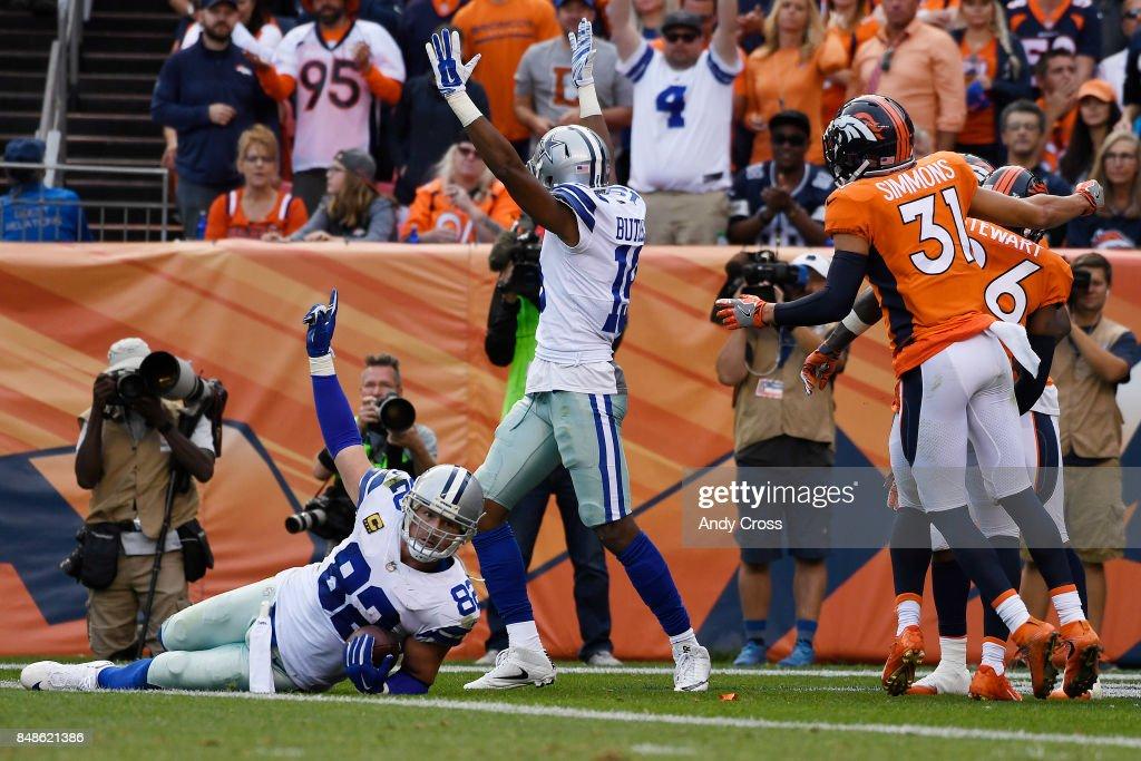 Denver Broncos vs. against the Dallas Cowboys, NFL Week 2 : Fotografia de notícias