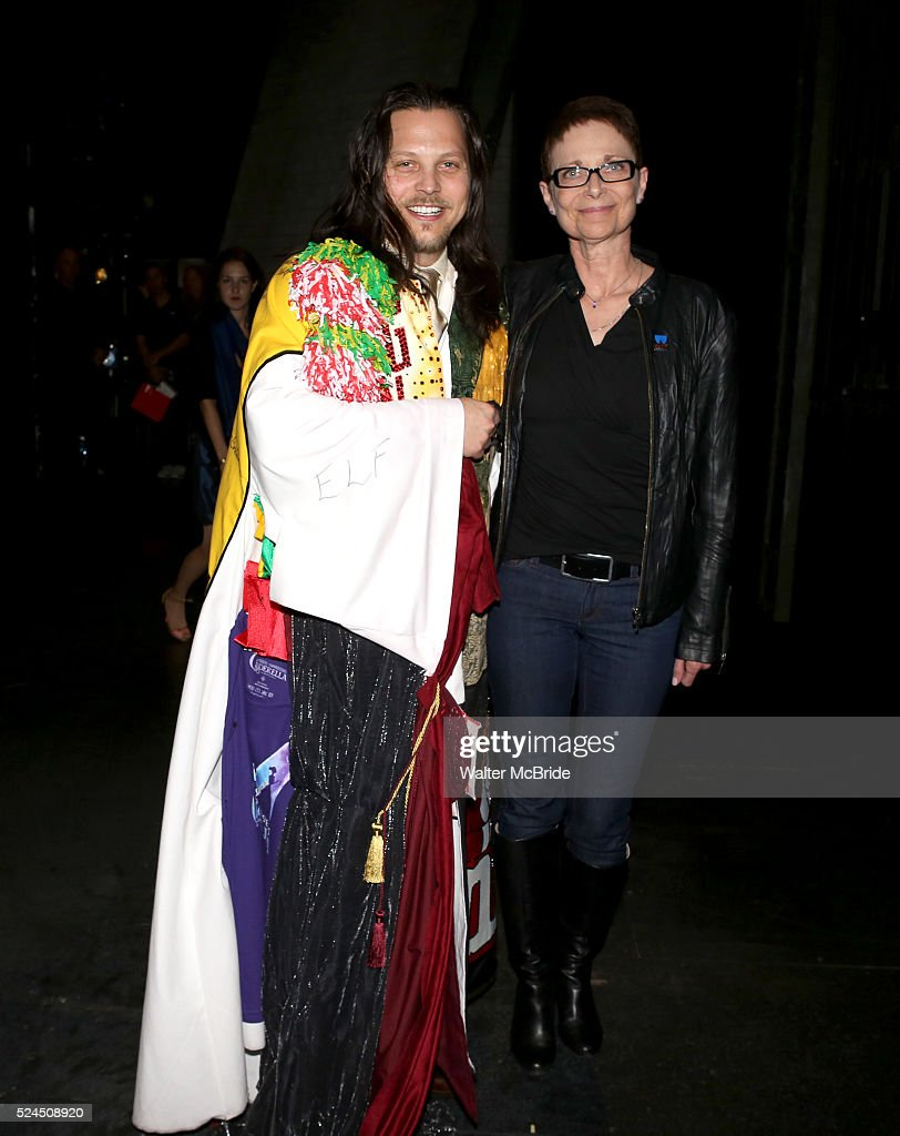 Jason Wooten Executive Director of AEA Mary McColl attending the Broadway Opening Night Gypsy Robe Ceremony honoring Jason Wooten for 'Jekyll Hyde...