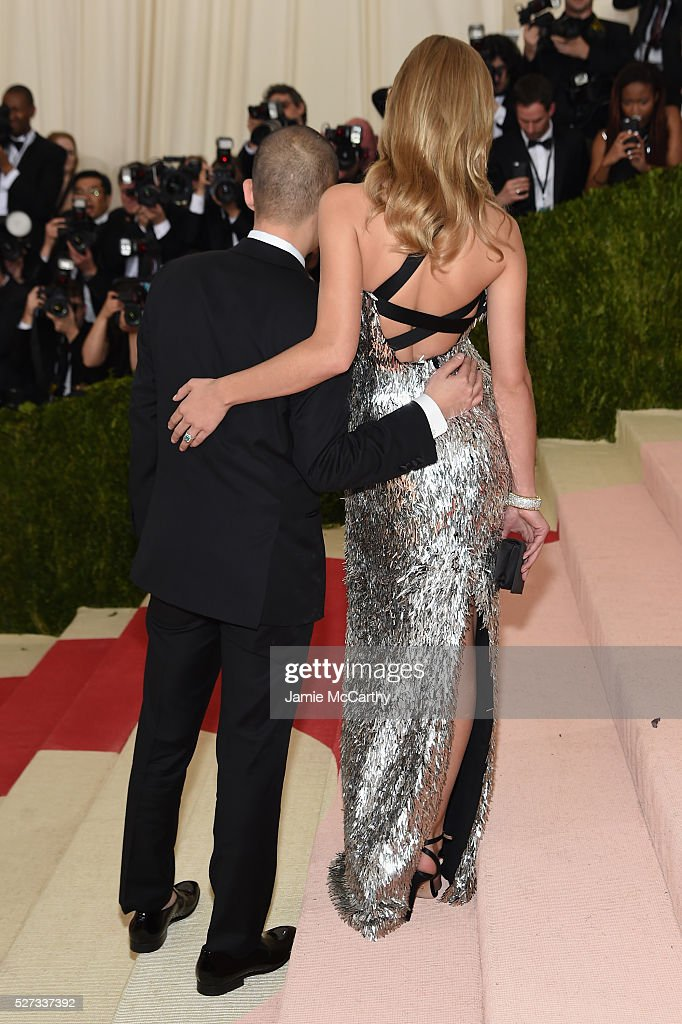 Jason Wu (L) and Anna Ewers attend the 'Manus x Machina: Fashion In An Age Of Technology' Costume Institute Gala at Metropolitan Museum of Art on May 2, 2016 in New York City.