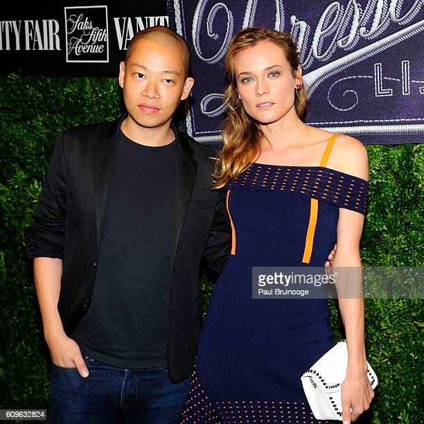 Jason Wu and Diane Kruger attend Vanity Fair SAKS Fifth Avenue International Best Dressed List at Saks Fifth Avenue on September 21 2016 in New York...