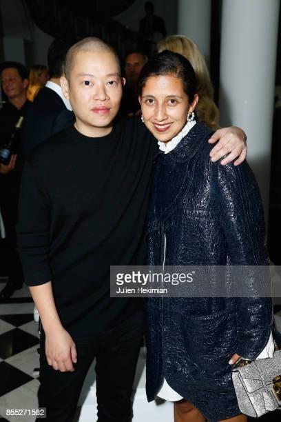 Jason Wu and Karla Martinez de Salas attend the Atelier Swarovski By Jason Wu dinner as part of the Paris Fashion Week Womenswear Spring/Summer 2018...