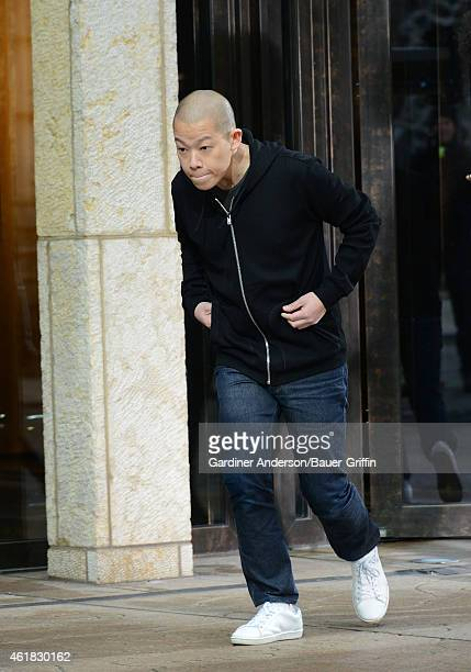 Jason Wu is seen in New York on January 20 2015 in New York City