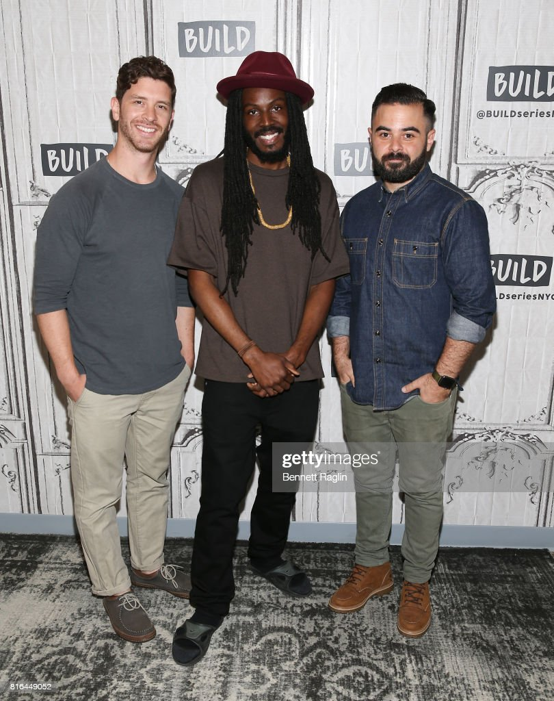 Jason Zeldes, Donte Clark, and Michael Klein attend Build to discuss the documentary 'Romeo Is Bleeding' at Build Studio on July 17, 2017 in New York City.