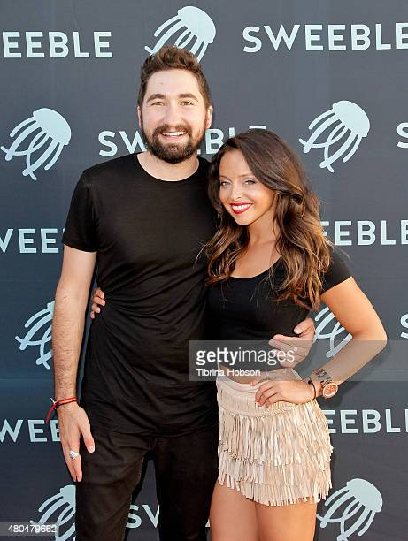 Jason Zuccari and Amanda Grohol attend the Sweeble and Arsenic Magazine party on July 11 2015 in Studio City California