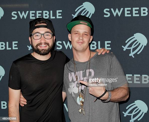 Jason Zuccari and Shawn Lukaszewicz attend the Sweeble and Arsenic Magazine party on July 11 2015 in Studio City California