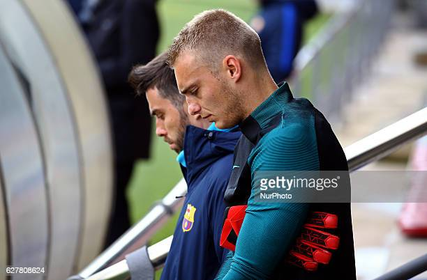 Jasper Cillesen during the FC Barcelona training before the match against Borussia Moenchengladbach in Barcelona on December 05 2016 Photo...
