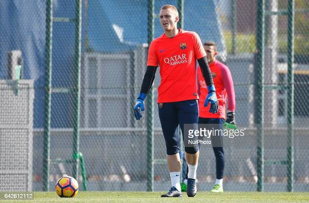 Jasper Cillessen during the FC Barcelona training before the match against Leganes in Barcelona on February 18 2017