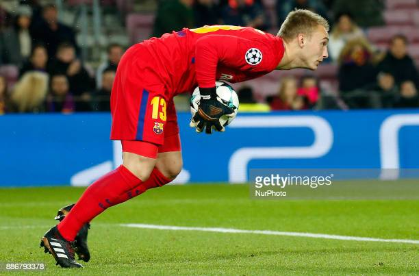 Jasper Cillessen during the UEFA Champions League match between FC Barcelona v Sporting CP in Barcelona on December 05 2017
