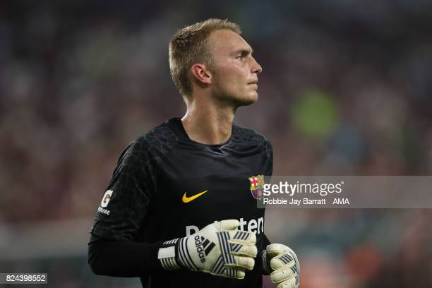 Jasper Cillessen of FC Barcelona during the International Champions Cup 2017 match between Real Madrid and FC Barcelona at Hard Rock Stadium on July...
