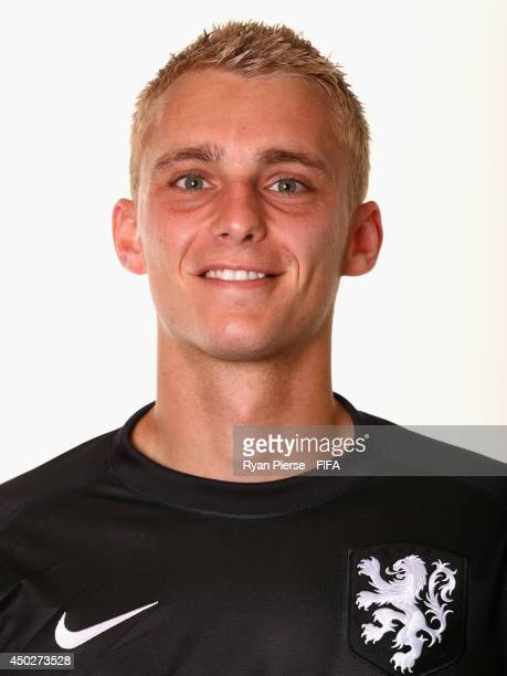 Jasper Cillessen of Netherlands poses during the official FIFA World Cup 2014 portrait session on June 7 2014 in Rio de Janeiro Brazil