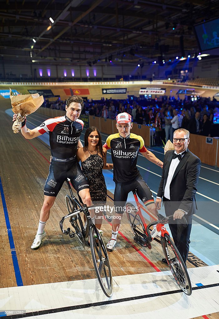 Jasper De Buyst and Marc Hester leading the race after day two at the Copenhagen Six Days Race Cycling at Ballerup Super Arena on February 5, 2016 in Ballerup, Denmark.