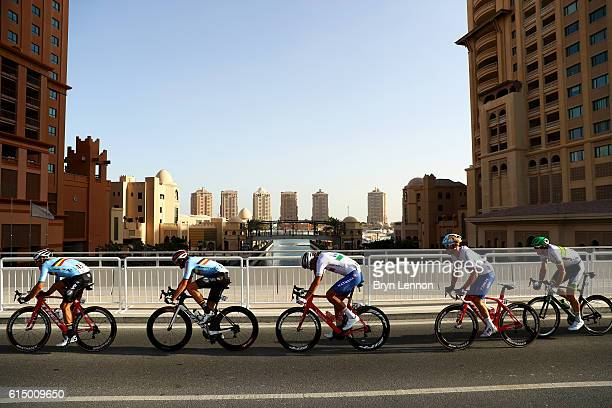 Jasper Stuyven of Belgium Oliver Naesen of Belgium Jacopo Guarnieri of Italy Giacomo Nizzolo and Italy and Mathew Hayman of Australia ride during the...