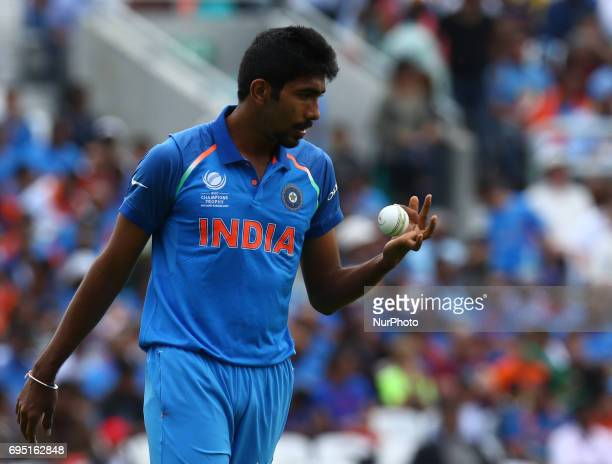 Jasprit Bumrah of India during the ICC Champions Trophy match Group B between India and South Africa at The Oval in London on June 11 2017