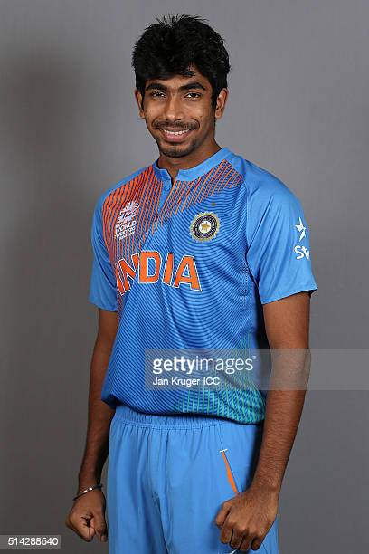 Jasprit Bumrah poses during the India Headshots session ahead of the ICC Twenty20 World Cup on March 8 2016 in Kolkata India