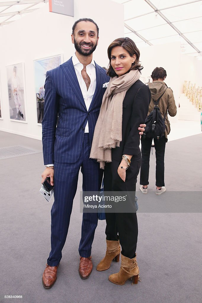 Jasvinder Khaira and Malini Murjani attend the 2016 Frieze Art Fair: New York at Randall's Island on May 4, 2016 in New York City.