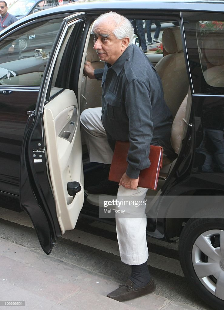 <a gi-track='captionPersonalityLinkClicked' href=/galleries/search?phrase=Jaswant+Singh&family=editorial&specificpeople=220287 ng-click='$event.stopPropagation()'>Jaswant Singh</a> arrives at Parliament on the first day of its winter session in New Delhi on November 9, 2010.