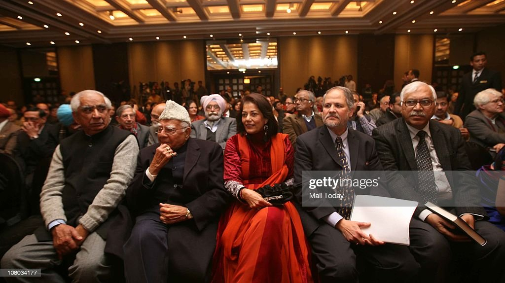 <a gi-track='captionPersonalityLinkClicked' href=/galleries/search?phrase=Jaswant+Singh&family=editorial&specificpeople=220287 ng-click='$event.stopPropagation()'>Jaswant Singh</a> , Ram Jethmalani and Rekha Purie during the MJ Akbar's Book Launch Tinderbox;The Past and Future of Pakistan on January 11,2011 in New Delhi.