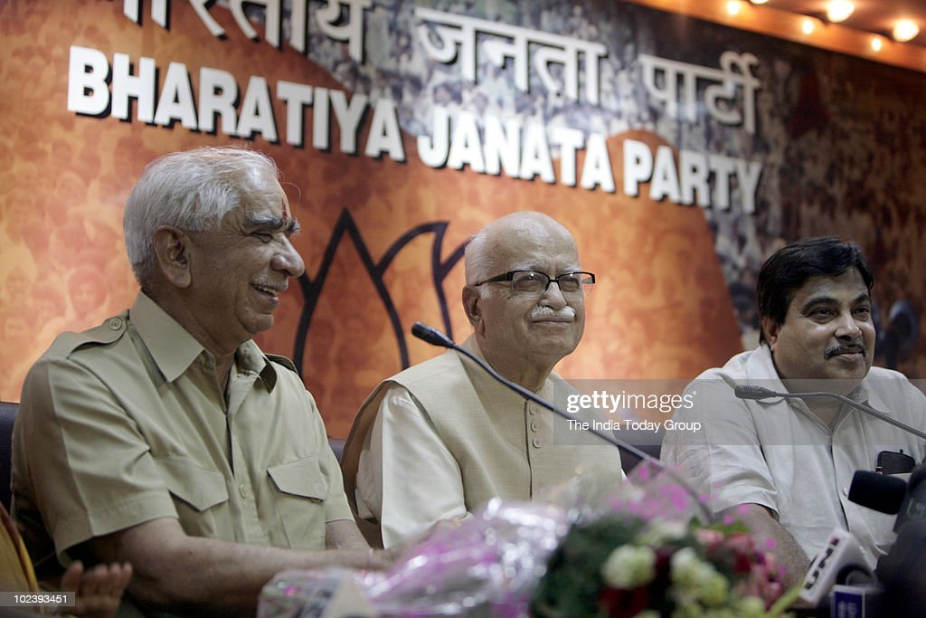 <a gi-track='captionPersonalityLinkClicked' href=/galleries/search?phrase=Jaswant+Singh&family=editorial&specificpeople=220287 ng-click='$event.stopPropagation()'>Jaswant Singh</a> with L K Advani and Nitin Gadkari at the BJP office in Delhi to announce <a gi-track='captionPersonalityLinkClicked' href=/galleries/search?phrase=Jaswant+Singh&family=editorial&specificpeople=220287 ng-click='$event.stopPropagation()'>Jaswant Singh</a>'s formally rejoining the party.