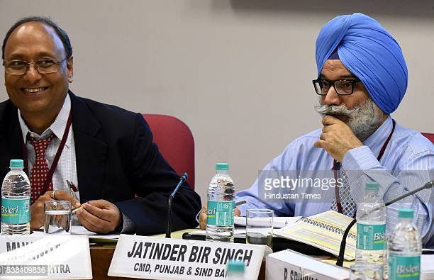 Jatinder Bir Singh Chairman and Managing Director Punjab and Sind Bank during the Quarterly Performance Review Meeting of the Chairmen and Managing...