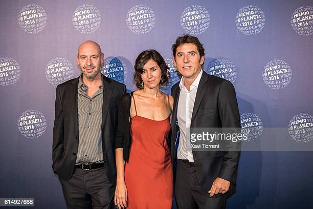 Jaume Balaguero and Manel Fuentes attend the 2016 Premio Planeta award on October 15 2016 in Barcelona Spain