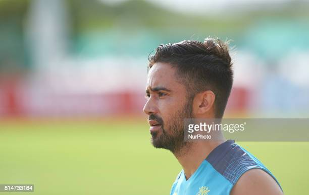 Jaume Costa during the first week of Villarreal CF training session at Ciudad Deportiva of Miralcamp July 14 in Vilareal Spain