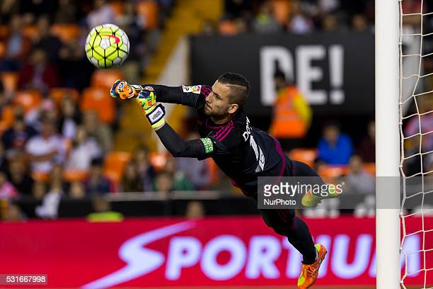 13 Jaume Domenech of Valencia CF during La Liga match between Valencia CF and Real Sociedad at Mestalla Stadium in Valencia on May 13 2016