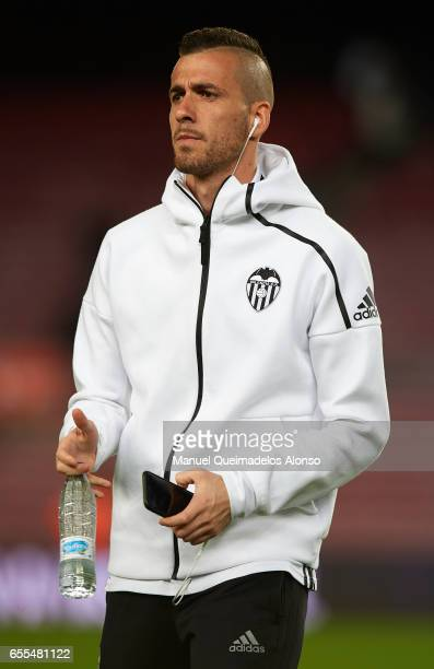 Jaume Domenech of Valencia looks on prior to the La Liga match between FC Barcelona and Valencia CF at Camp Nou Stadium on March 19 2017 in Barcelona...