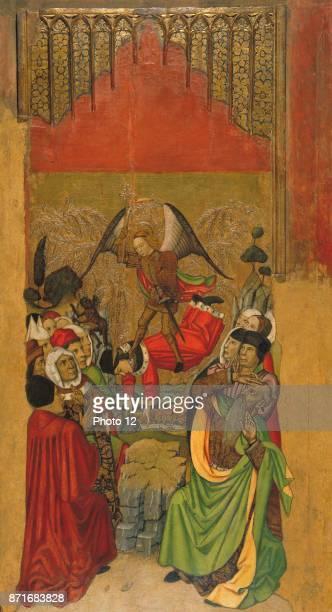 Jaume Huguet Saint Michael Vanquishes the Antichrist Tempera stucco reliefs and gold leaf on wood Around 14551460