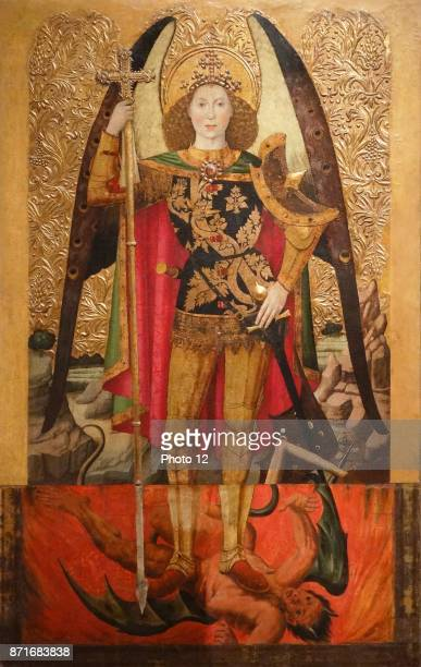 Jaume Huguet The Archangel St Michael Tempera stucco reliefs and gold leaf on wood Around 1456